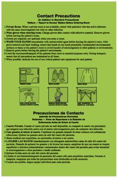 """Contact Precautions Labels, 8"""" x 5.25"""""""