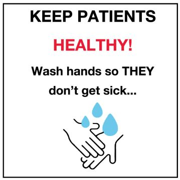 """Hand Washing Labels, 6"""" x 6"""""""