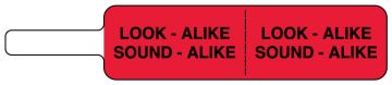 "LOOK ALIKE SOUND ALIKE Flag, 3-7/8"" x 3/4"""