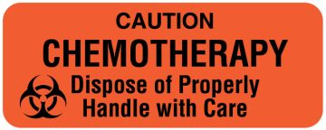 """Chemotherapy Labels, 2-1/4"""" x 7/8"""""""