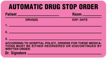 "Pharmacy Drug Renewal Label, 3"" x 1-5/8"""