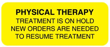 """Physical Therapy Treatment, 2-1/4"""" x 7/8"""""""
