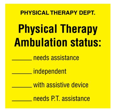 "Physical Therapy Ambulation, 2-1/2"" x 2-1/2"""