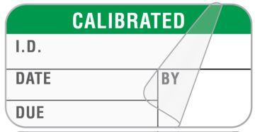 "Calibration Label, 1-1/2"" x 3/4"""