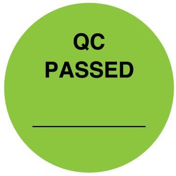 """QC PASSED, 1-1/2"""" Dia"""