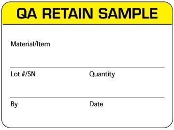 "Quality Control Label, 2-3/8"" x 1-3/4"""