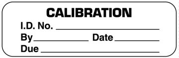 "Calibration Label, 2"" x 1/2"""