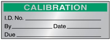 "Calibration Label, 2"" x 3/4"""