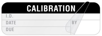 "Calibration Label, 1-1/2"" x 1/2"""
