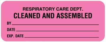 "Respiratory Care Label, 2-1/4"" x 7/8"""