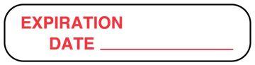 "EXP. DATE, Medication Instruction Label, 1-5/8"" x 3/8"""