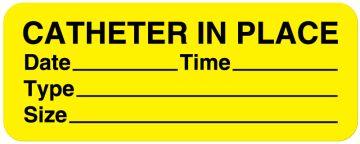 """Catheter Label, 2-1/4"""" x 7/8"""""""