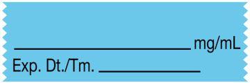 "Anesthesia Tape, Blank mg/mL, 1-1/2"" x 1/2"""