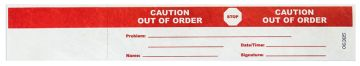 "OUT OF ORDER Tyvek Status Band,12"" x 2"""