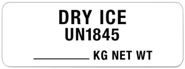 """Dry Ice Shipping Label, 3"""" x 1-1/8"""""""