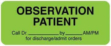 """Medical Observation Label, 2-1/4"""" x 7/8"""""""