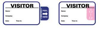 "Expiring Visitor Badge, 2-7/8"" x 1-7/8"""