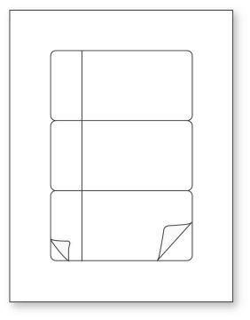 """Betacam Sleeve Insert Laser Label, 8-1/2"""" x 11"""""""