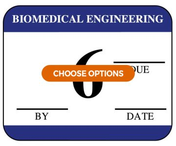 Biomedical Inspection Labels with Due Date