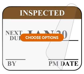 Monthly Self-Laminating Inspection Labels
