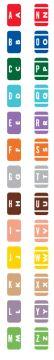 "Starter Kit Alpha File Folder Label - Smead ACC Compatible Series, 1"" x 1-5/8"""