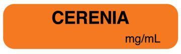 "Anesthesia Label, Cerenia mg/mL, 1-1/4"" x 5/16"""