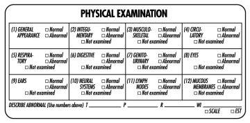 "Examination Record Label, 4"" x 1-7/8"""