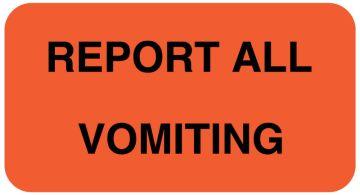 REPORT VOMITING Communication Label