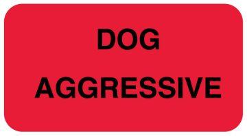 "Dog Aggressive Communication Label, 1-5/8"" x 7/8"""