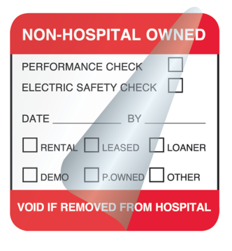 "Rental/Lease Equipment Label, 2"" x 1"""