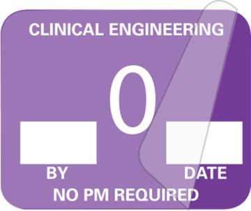 """Clinical Engineering Inspection Label, 1-1/4"""" x 1"""""""