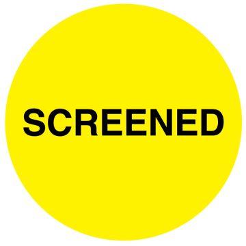 "Communication Label, Screened 3/4"" Dia"