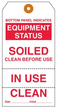 Equipment Clean Status Tag