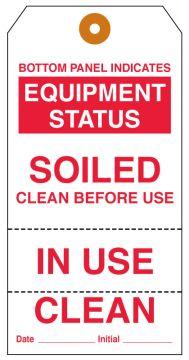 Equipment Clean Status Tag