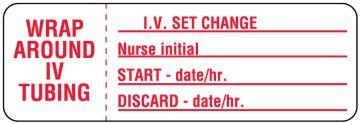 "IV Set Change Label, 3"" x 1"""