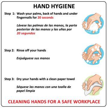 "Hand Washing Sign, 6"" x 6"""