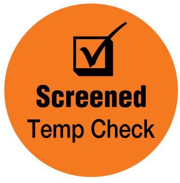 "SCREENED Temp Check, Orange, 3/4"" Dia"