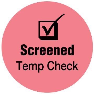 "SCREENED Temp Check, Pink,, 3/4"" Dia"