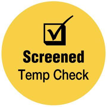 "SCREENED Temp Check, Yellow, 3/4"" Dia"