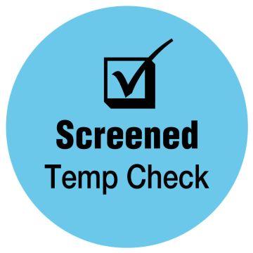"SCREENED Temp Check, Blue, 3/4"" Dia"