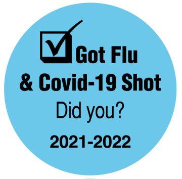 """Got Flu & Covid-19 Shot Did you?, 3/4"""" x 3/4"""""""