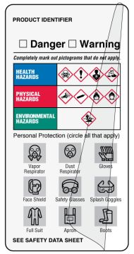 """GHS 2"""" x 4"""" PPE Synthetic Self-laminating Label"""