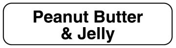 """PEANUT BUTTER & JELLY, Food Identification Labels, 1-1/4"""" x 5/16"""""""