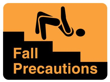 "Fall Risk Label, 2-3/8"" x 1-3/4"""
