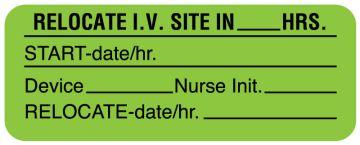 "I.V. Site Care Label, 2-1/4"" x 7/8"""