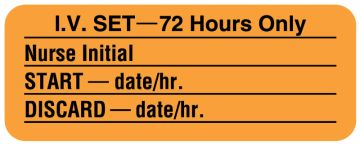 "I.V. Tubing Change Label, 2-1/4"" x 7/8"""