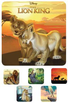 "LION KING, Kids' Sticker, 2-1/2"" x 2-1/2"""