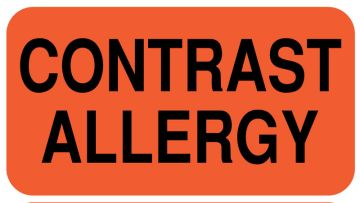"Contrast Allergy,1-5/8"" x 7/8"""