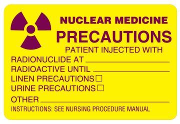 "Radioactive Warning Label, 3"" x 2"""
