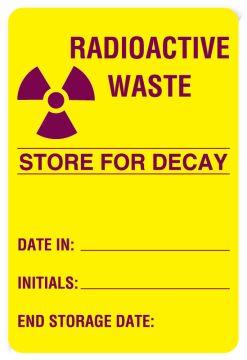 "Nuclear Medicine Label, 4"" x 2-5/8"""